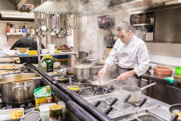 la cocina industrial