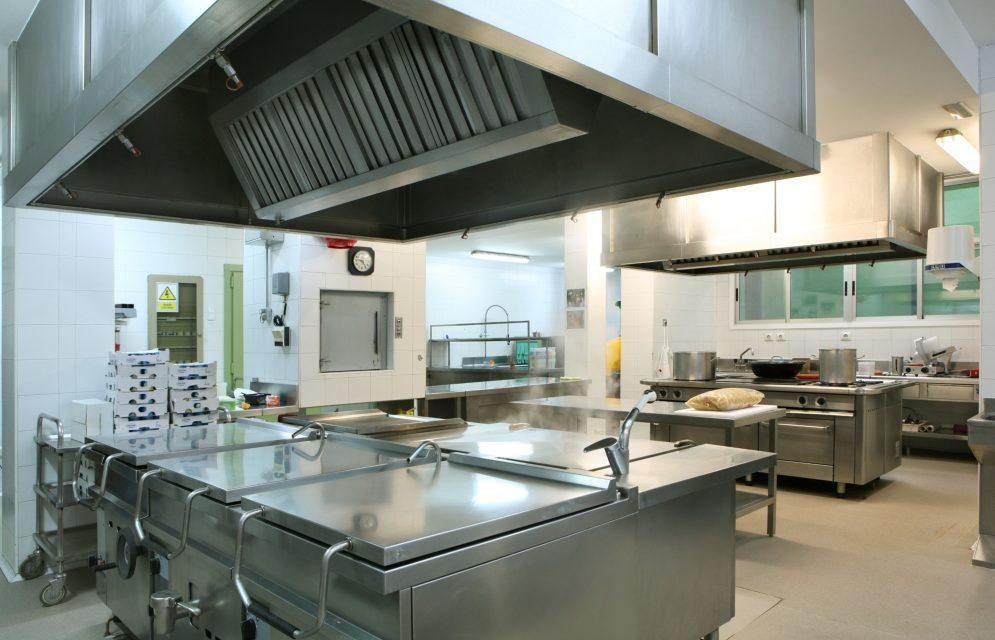 espacio en cocina industrial